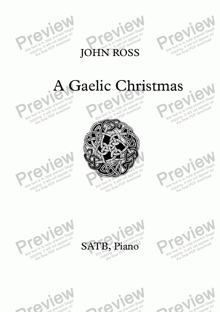 page one of A Gaelic Christmas