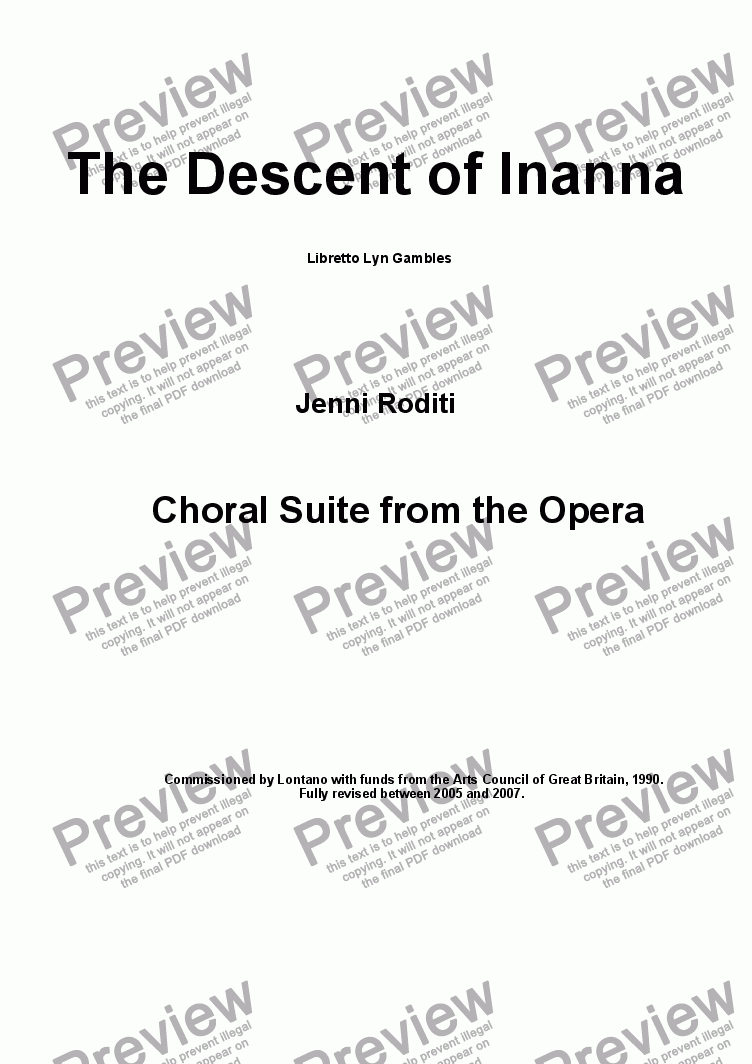 page one of Act 1 The Descent of Inanna