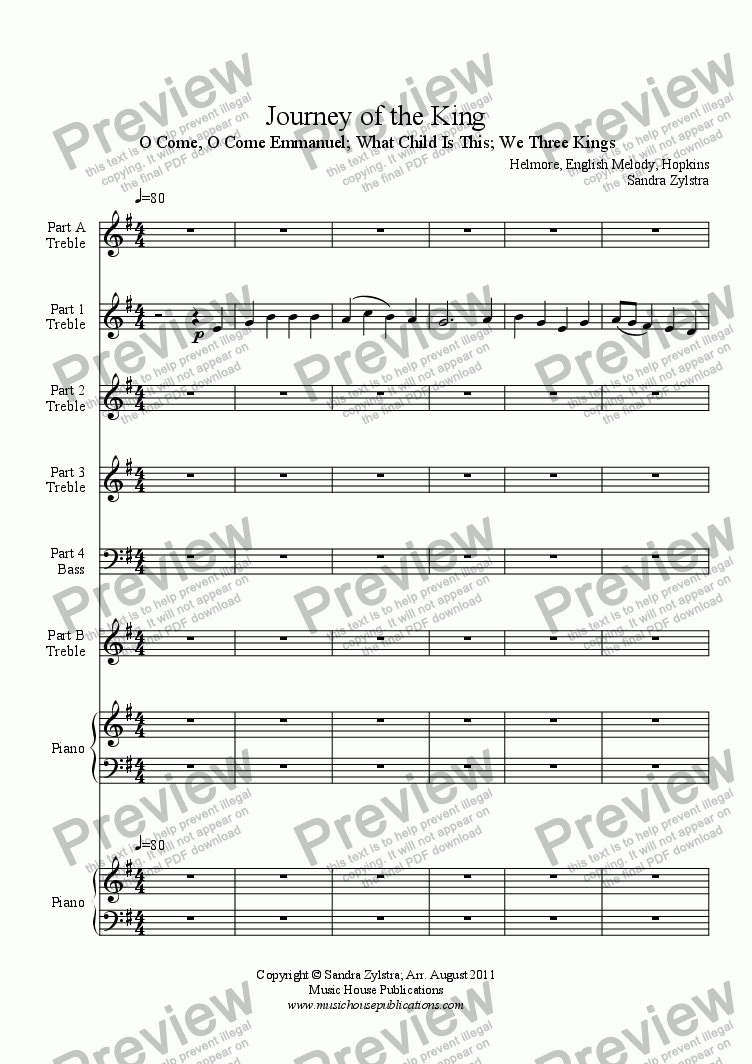 page one of Instant Ensemble: Journey of the King