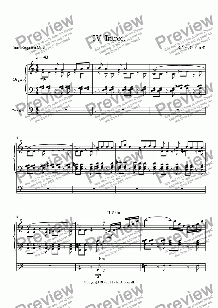 page one of IV. Introit