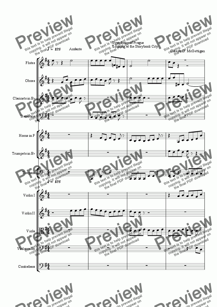 page one of Symphony of Prague Orchestra Piece