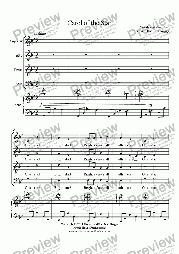 page one of Carol of the StarASALTTEXT