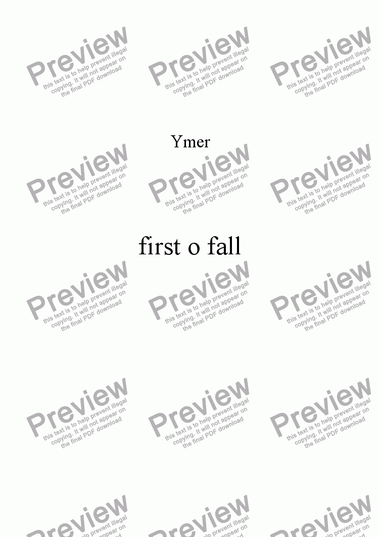 page one of first o fall