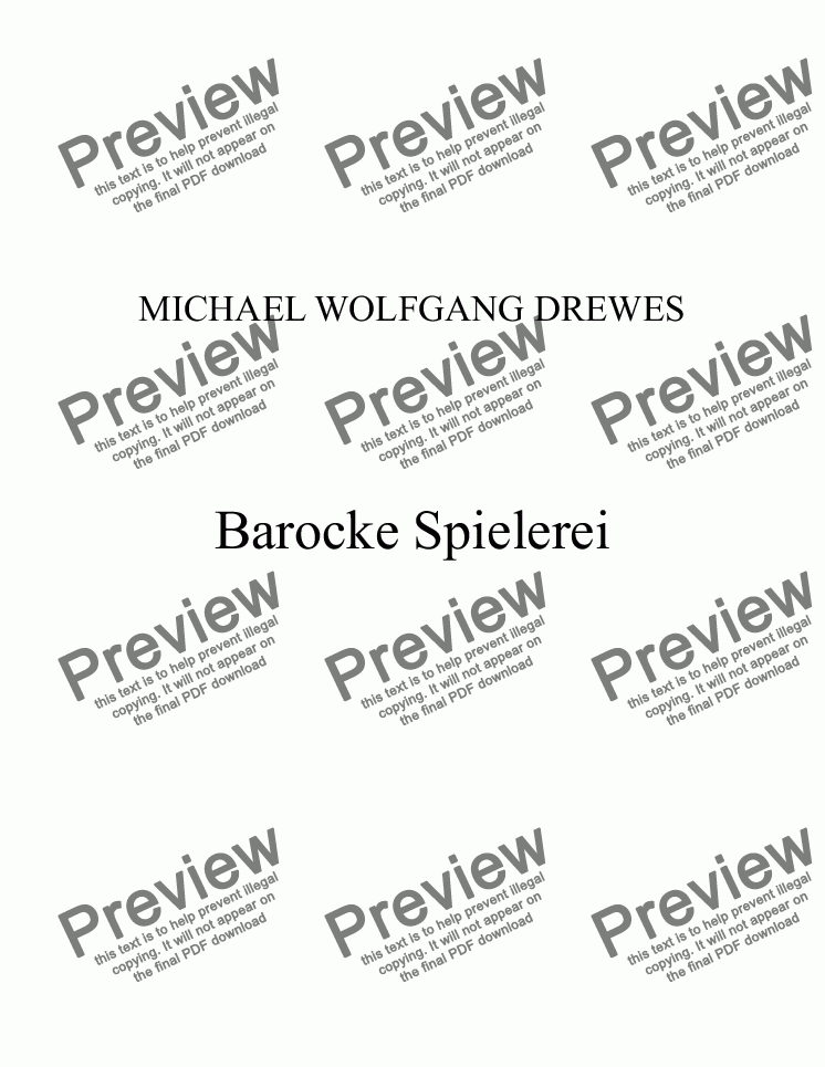 page one of Barocke Spielerei