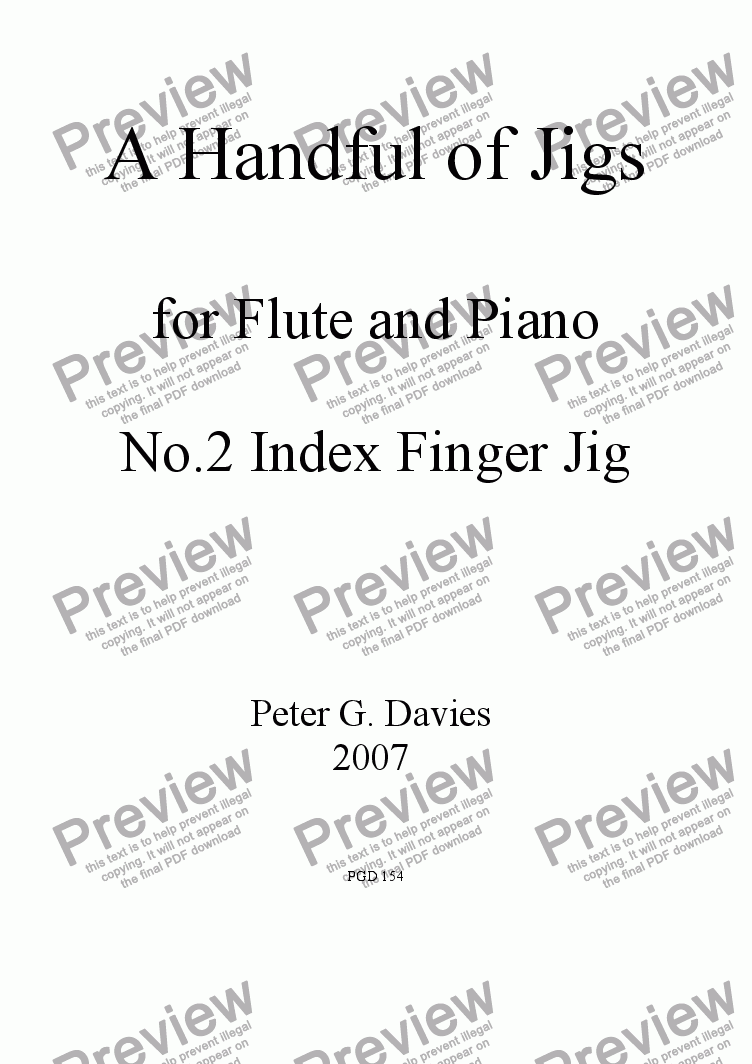 page one of A Handful of Jigs No.2 Index Finger Jig for Flute and Piano