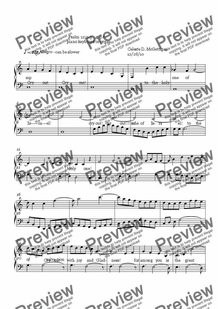 page one of Handbell Medly of Love