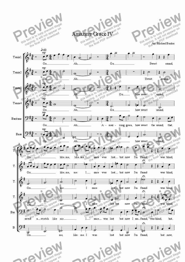 page one of Amazing Grace IV