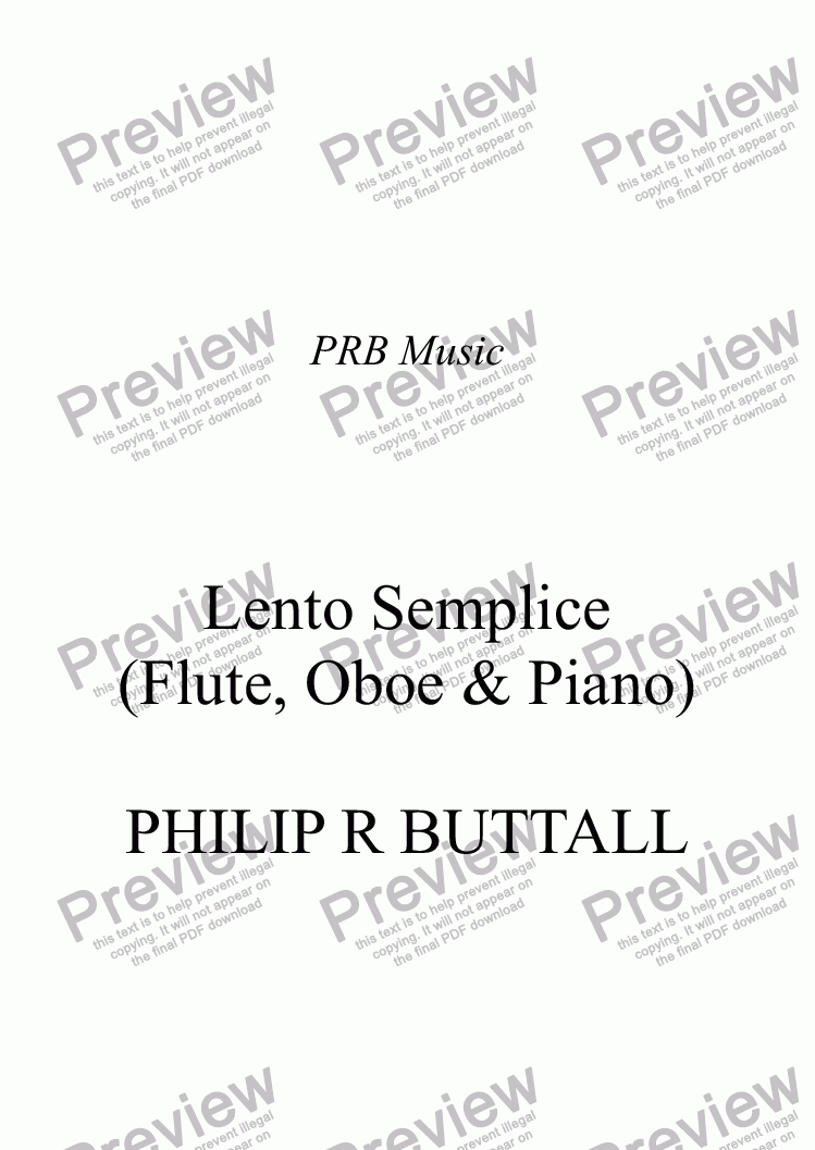 page one of Lento Semplice (Flute & Oboe)