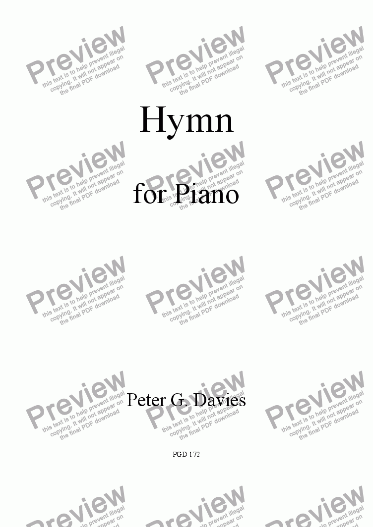 page one of Hymn