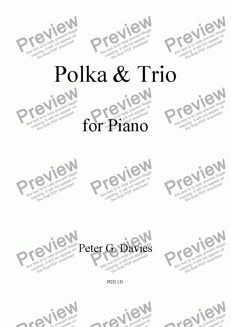 page one of Polka & Trio
