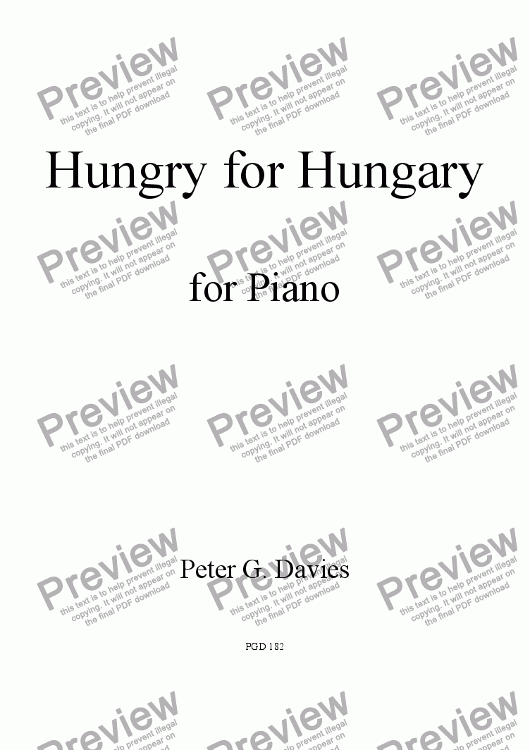 page one of Hungry for Hungary
