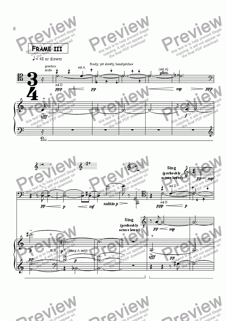 page one of Frame 3&4/5,  for Cello & Piano -