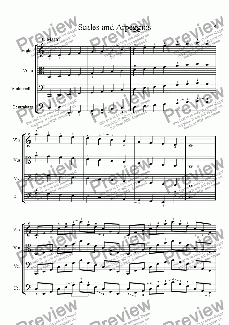 page one of Scales, Arpeggios and Chorales