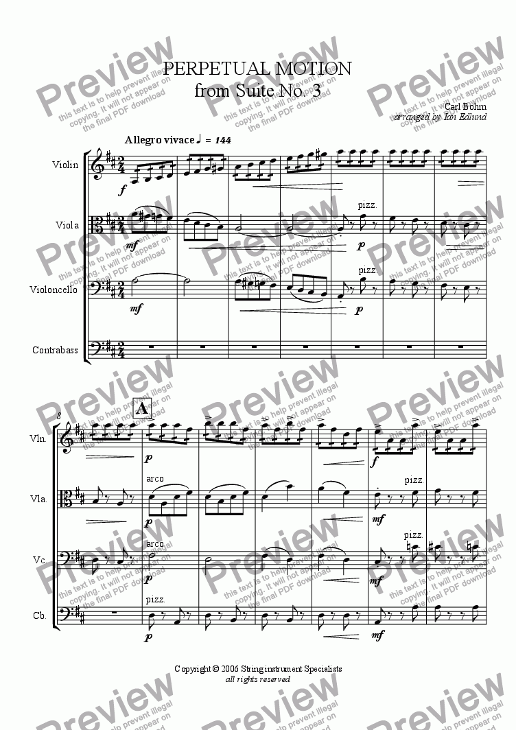 page one of PERPETUAL MOTION from Suite No. 3