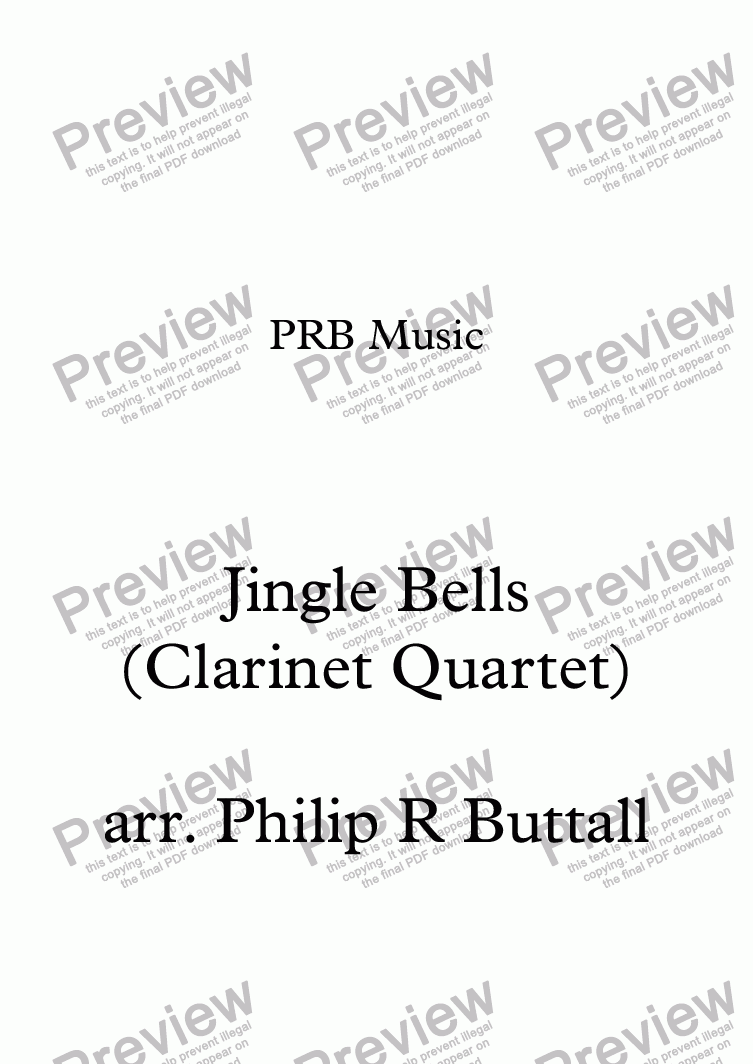 page one of Jingle Bells (Clarinet Quartet)