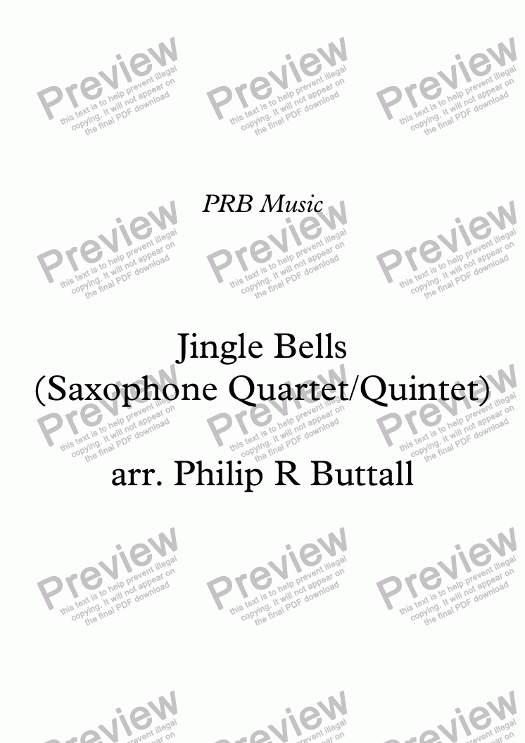 page one of Jingle Bells (Saxophone Quartet / Quintet)