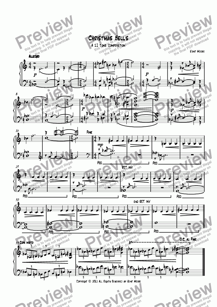 page one of Christmas Bells