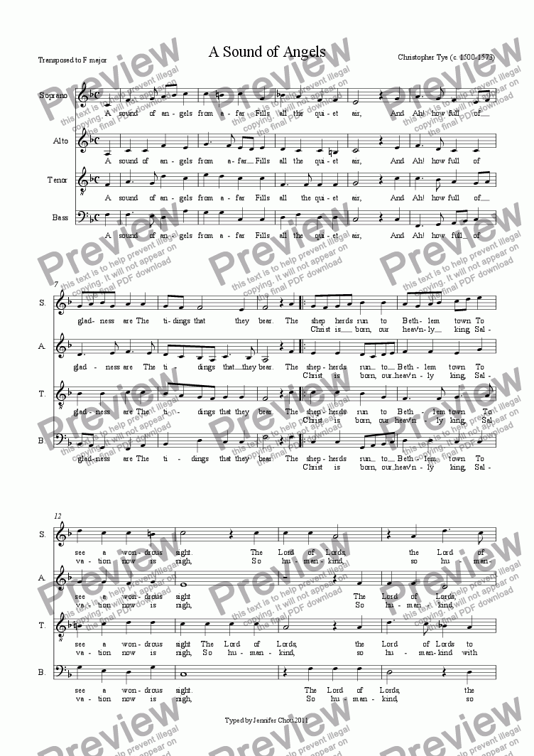 page one of A Sound of Angels