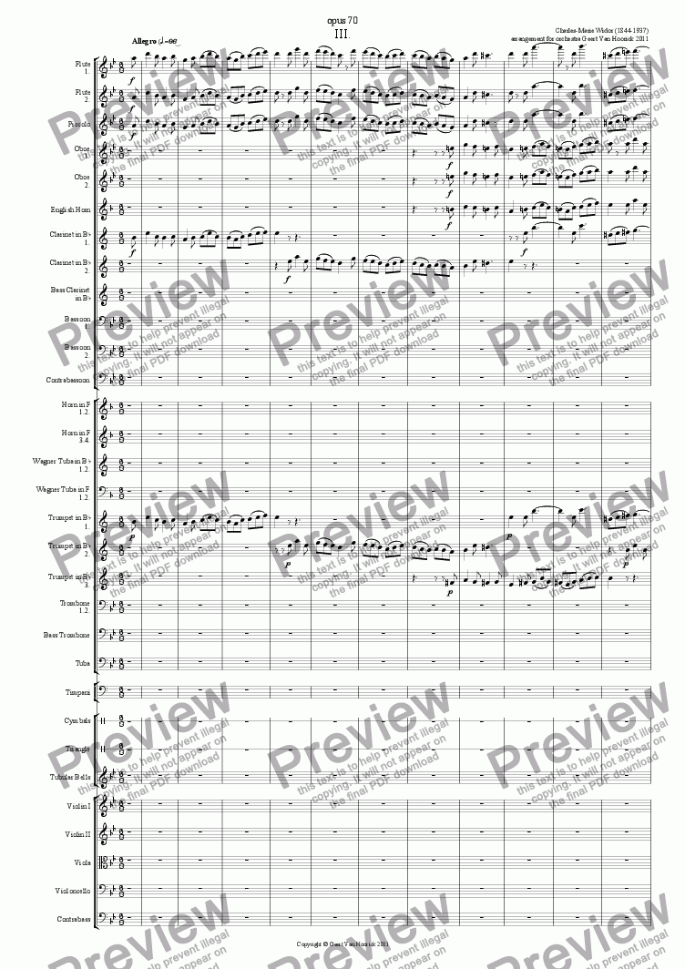 page one of Symphonie Gothique - III Allegro
