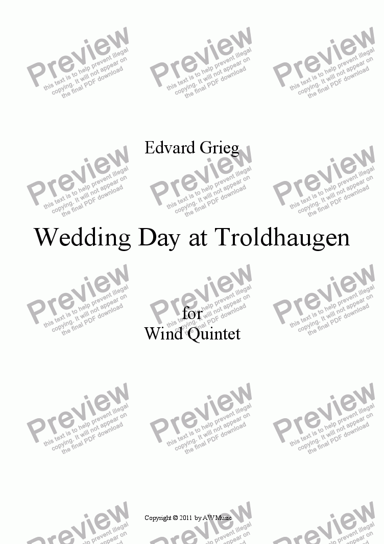 page one of Wedding Day at Troldhaugen