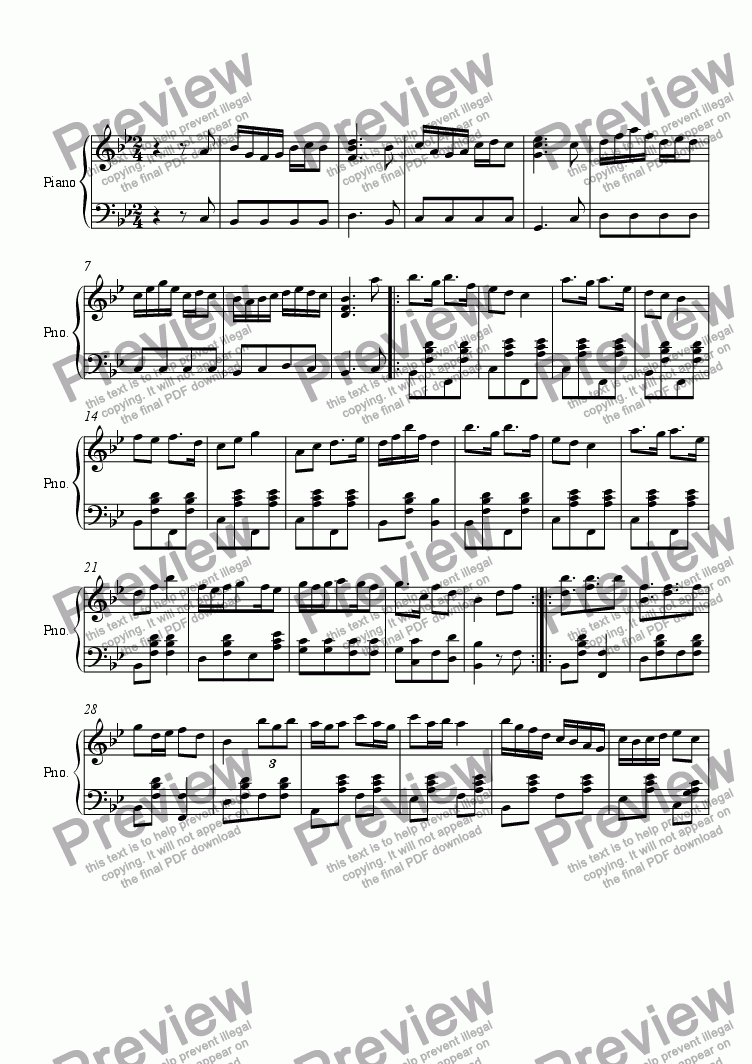 page one of Ragtime #86 in B Flat Major