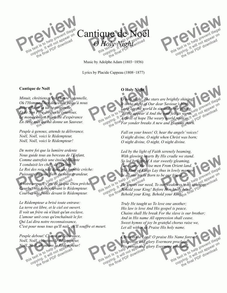 O Holy Night Voice Guitar Chords G Major Lead Sheet Buy Pdf