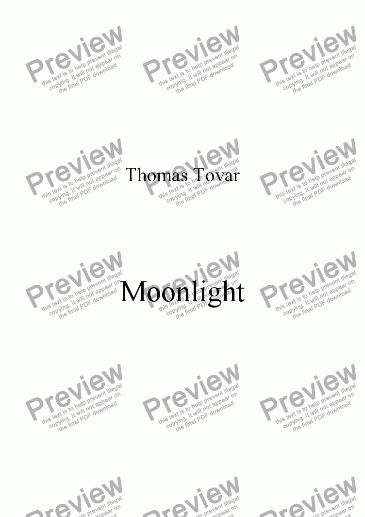 page one of Moonlight