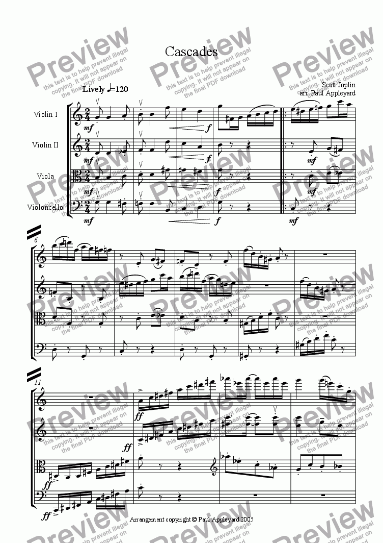page one of Cascades