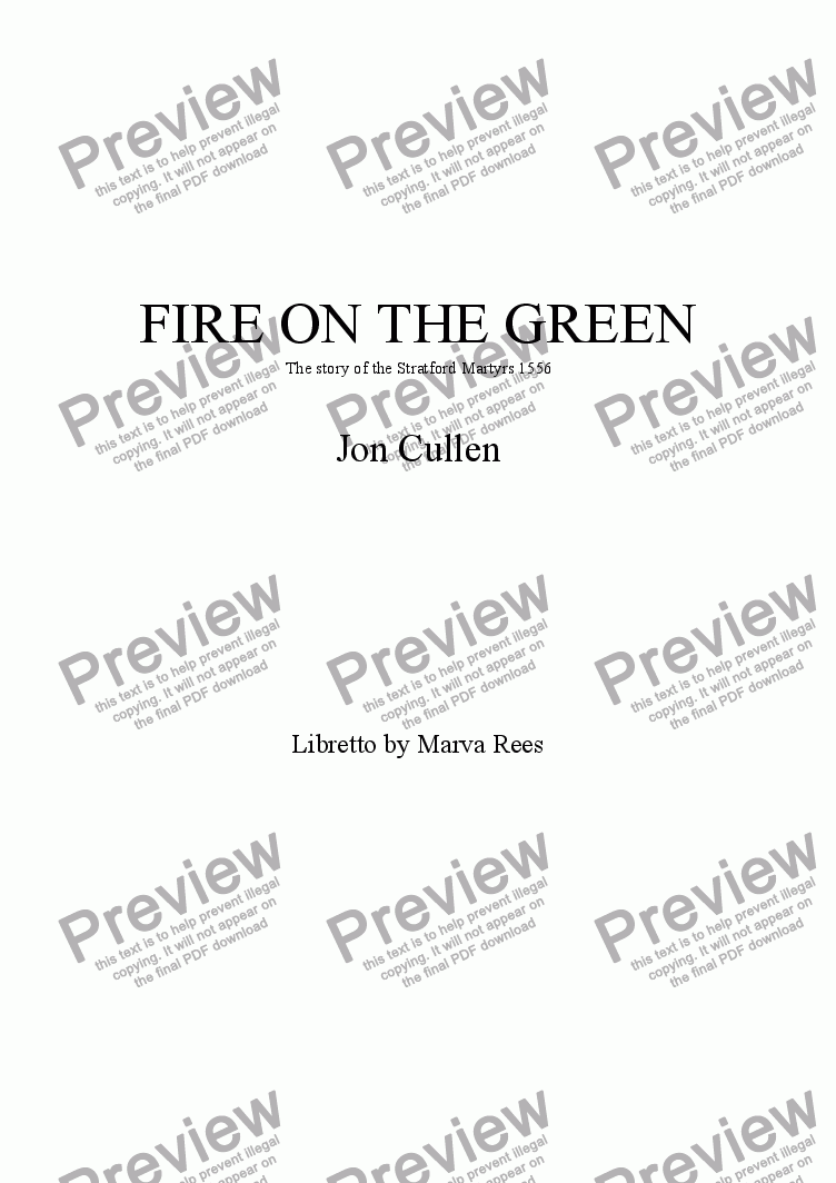 page one of Fire on the Green