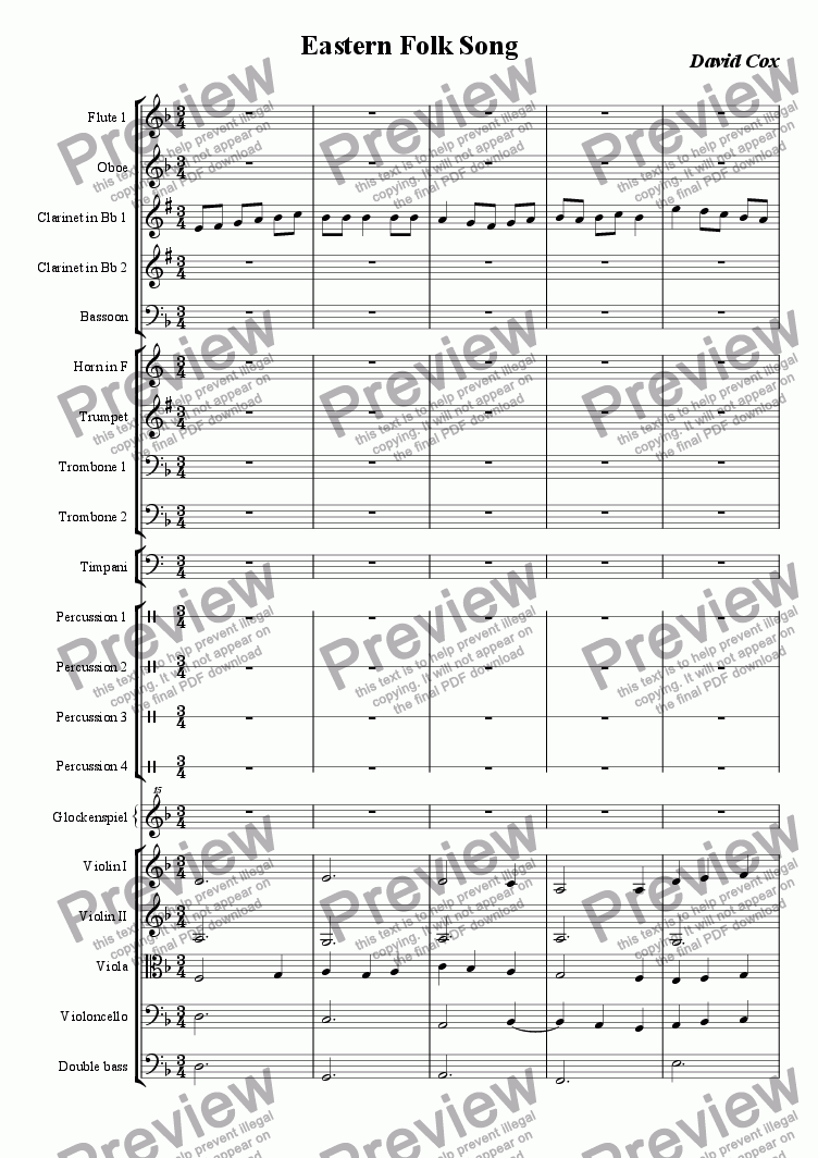 page one of Eastern Folk Song
