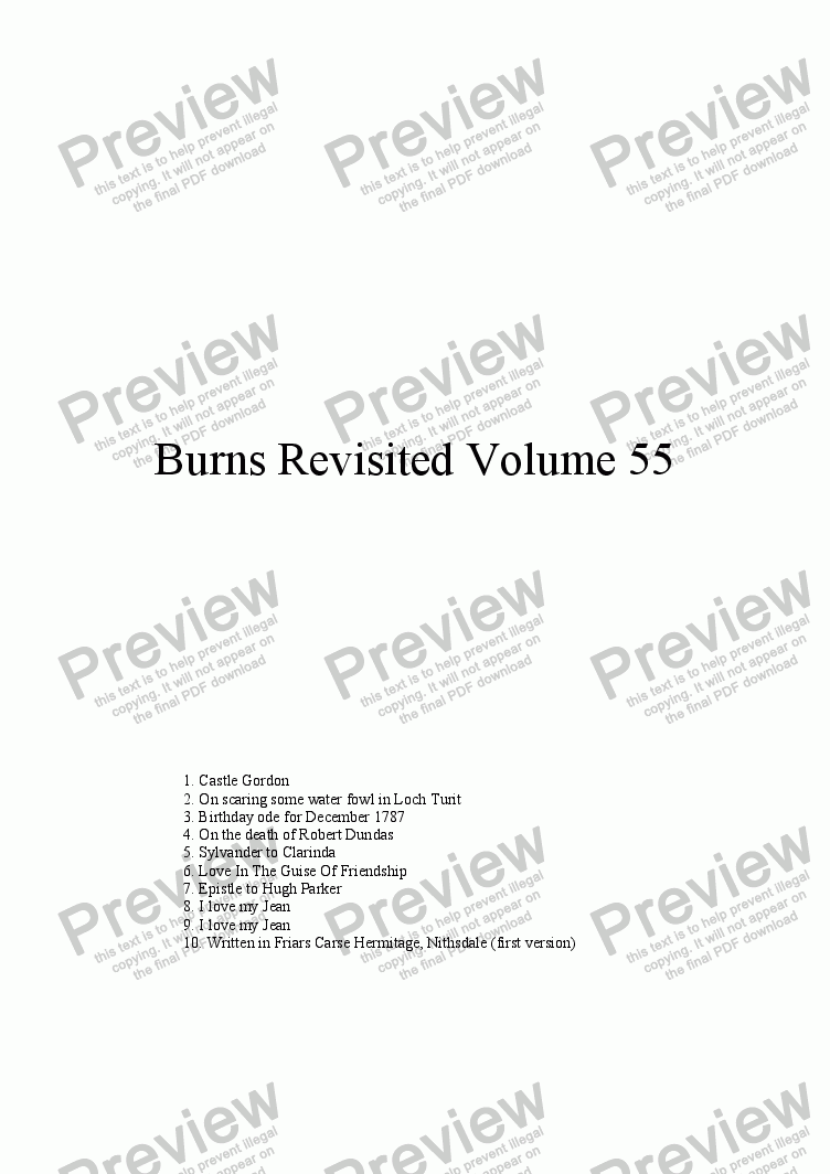 page one of Burns Revisited Volume 55
