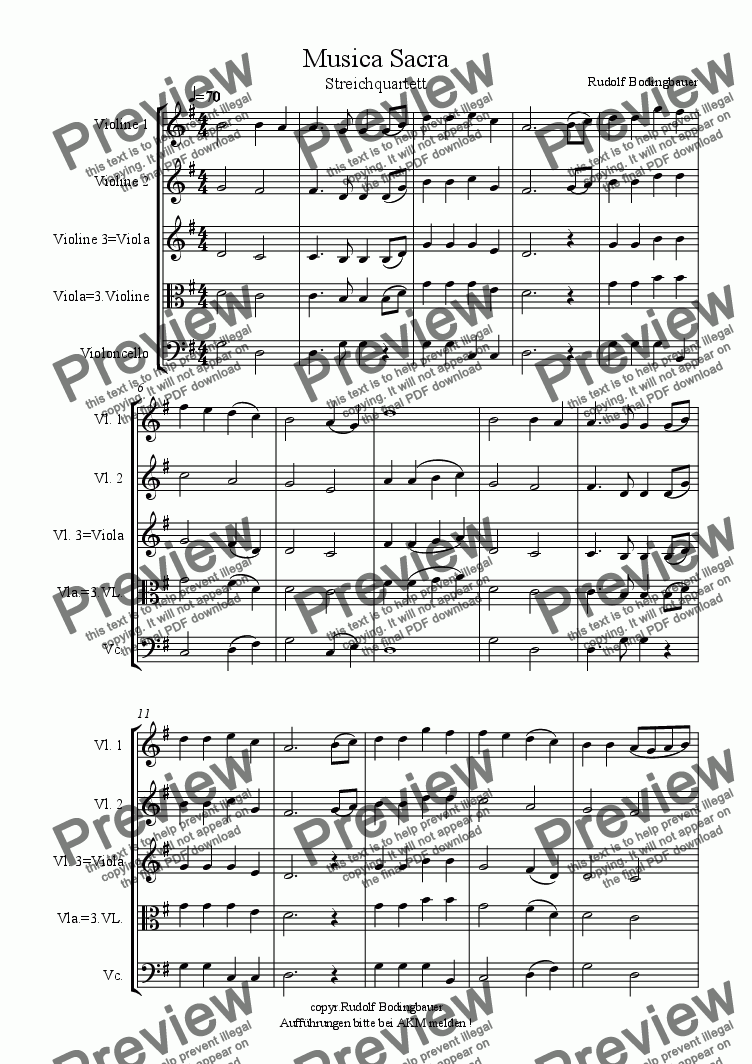 page one of Musica Sacra