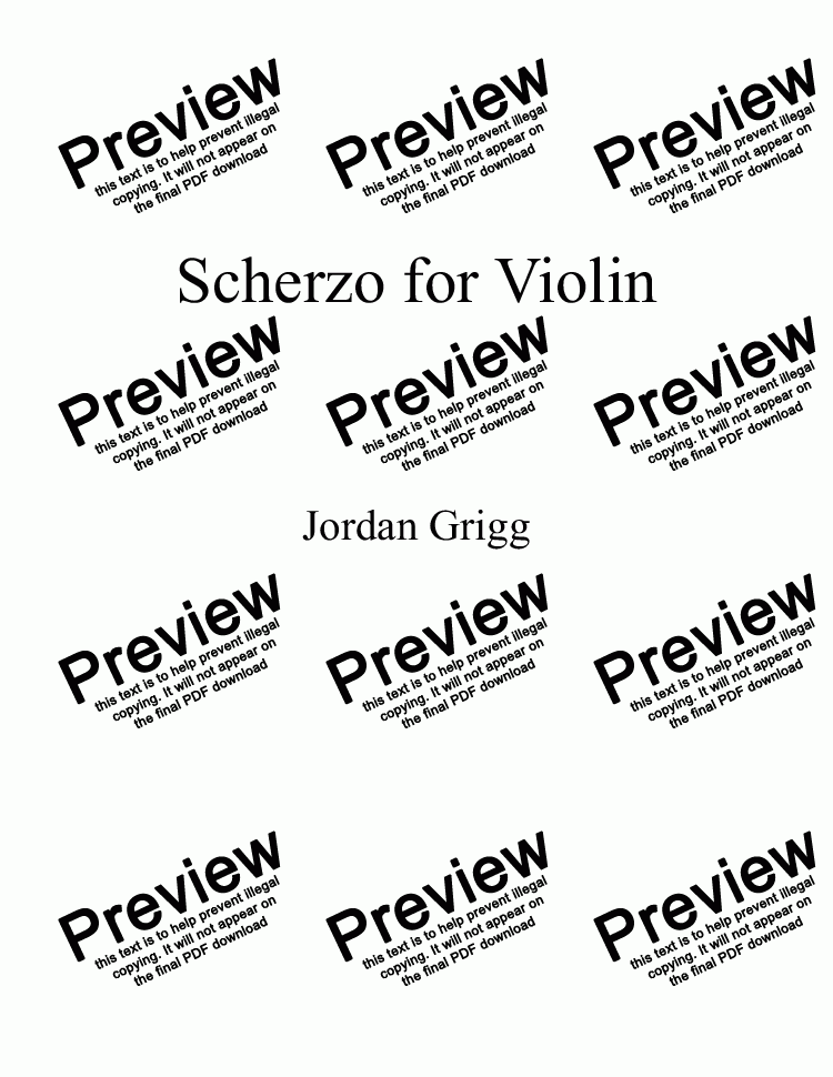 page one of Scherzo for Violin