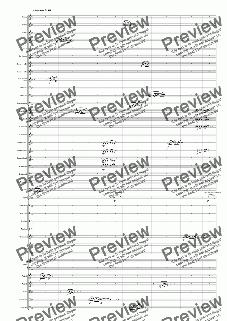 page one of Symphony No 69 3rd mvt