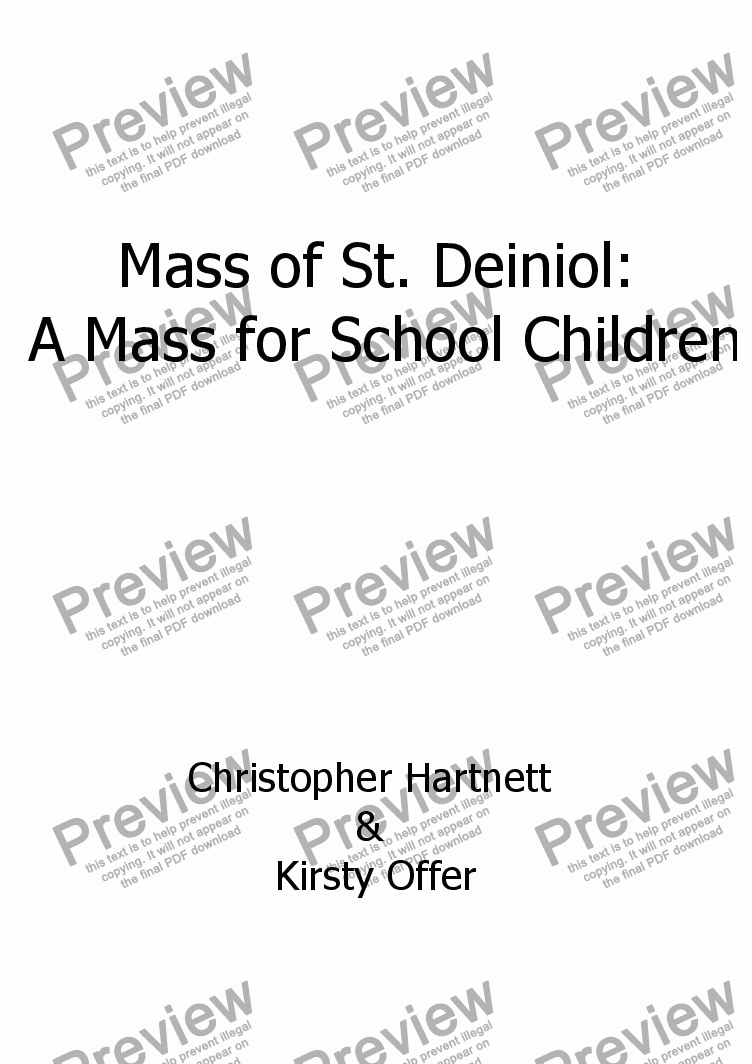 page one of Mass of St. Deiniol:  A Mass for School ChildrenASALTTEXT