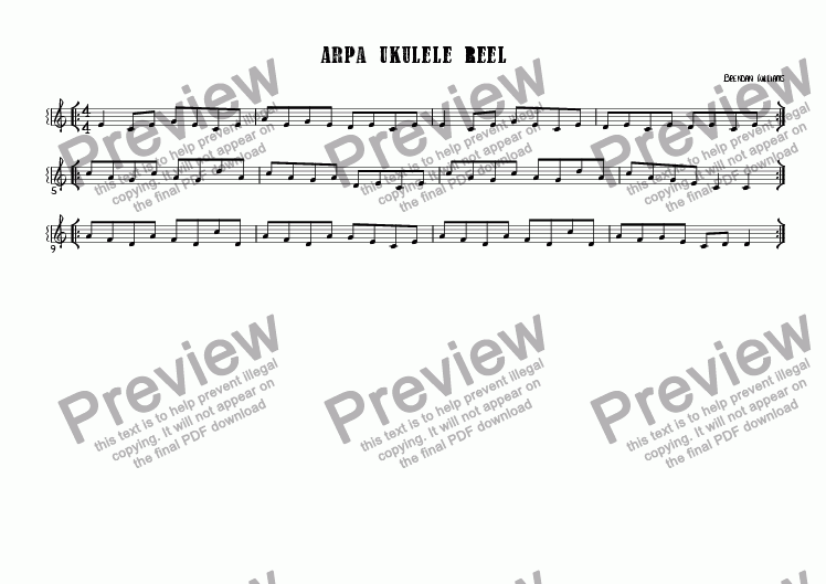 page one of Arpa Ukulele ReelASALTTEXT