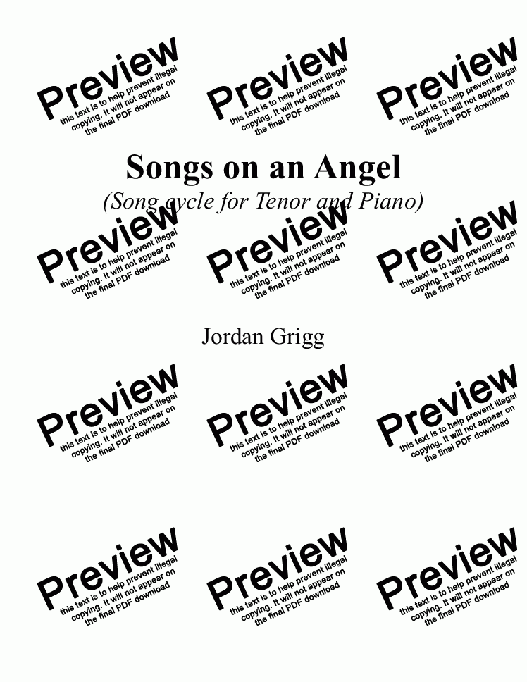 page one of Songs on an Angel