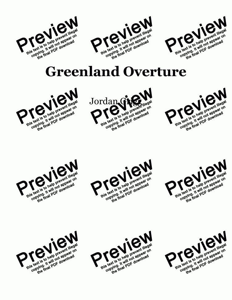 page one of Greenland Overture