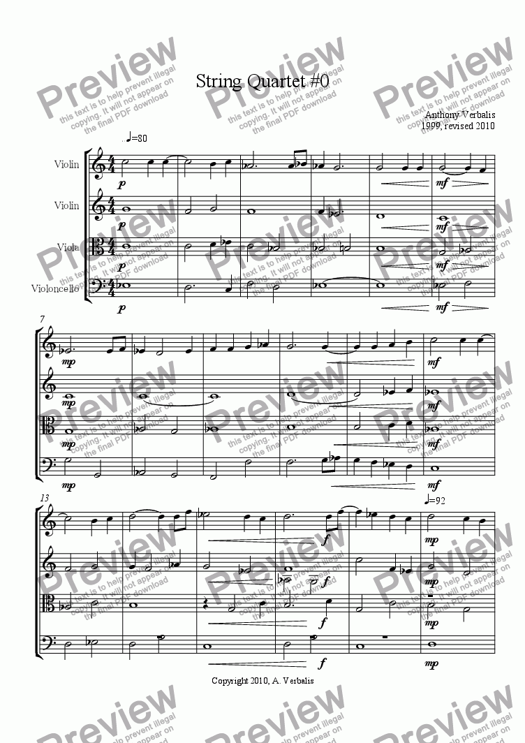page one of Lepoco Quartet