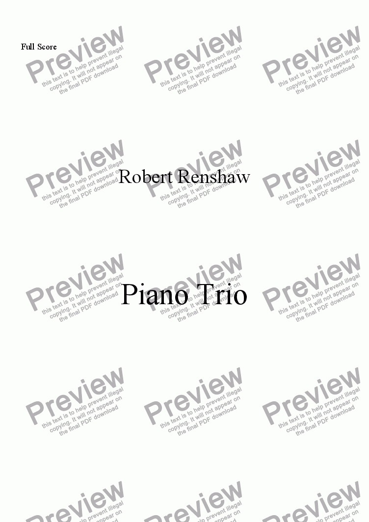 page one of Piano Trio (Vl, Vlc, Pno)