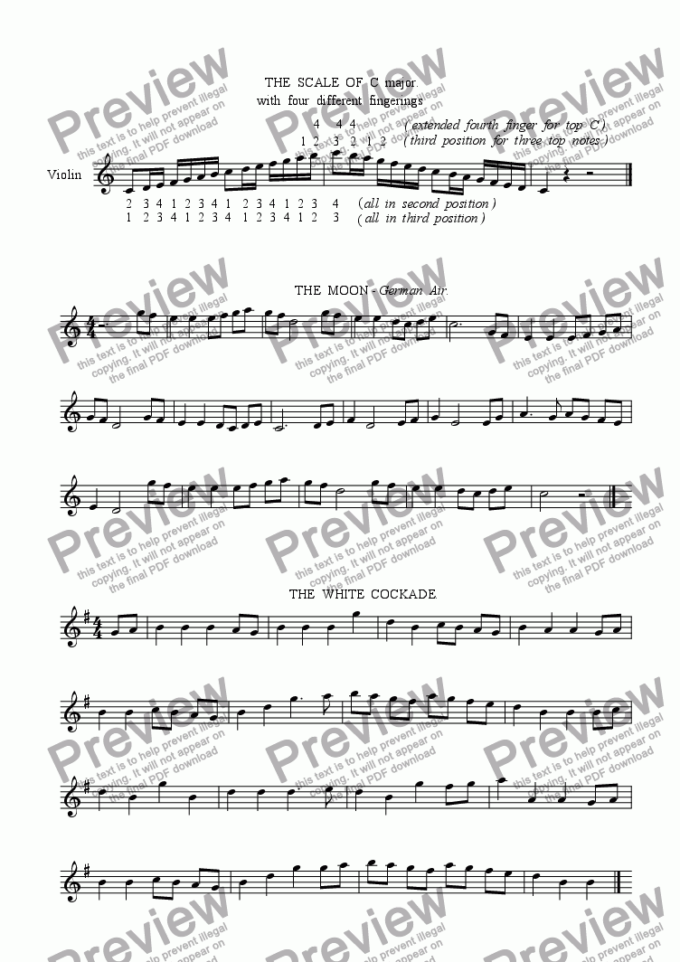 violin book 2 for Solo instrument (Solo Violin) by Richard Williams - Sheet  Music PDF file to download