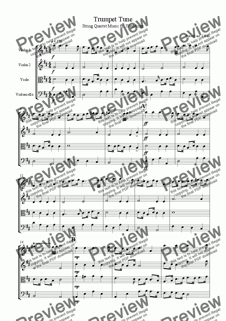 page one of PurcellTrumpet Tune