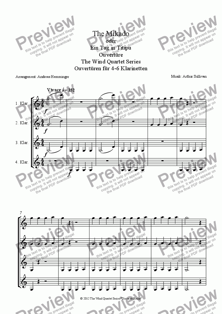 page one of Overture, The Mikado