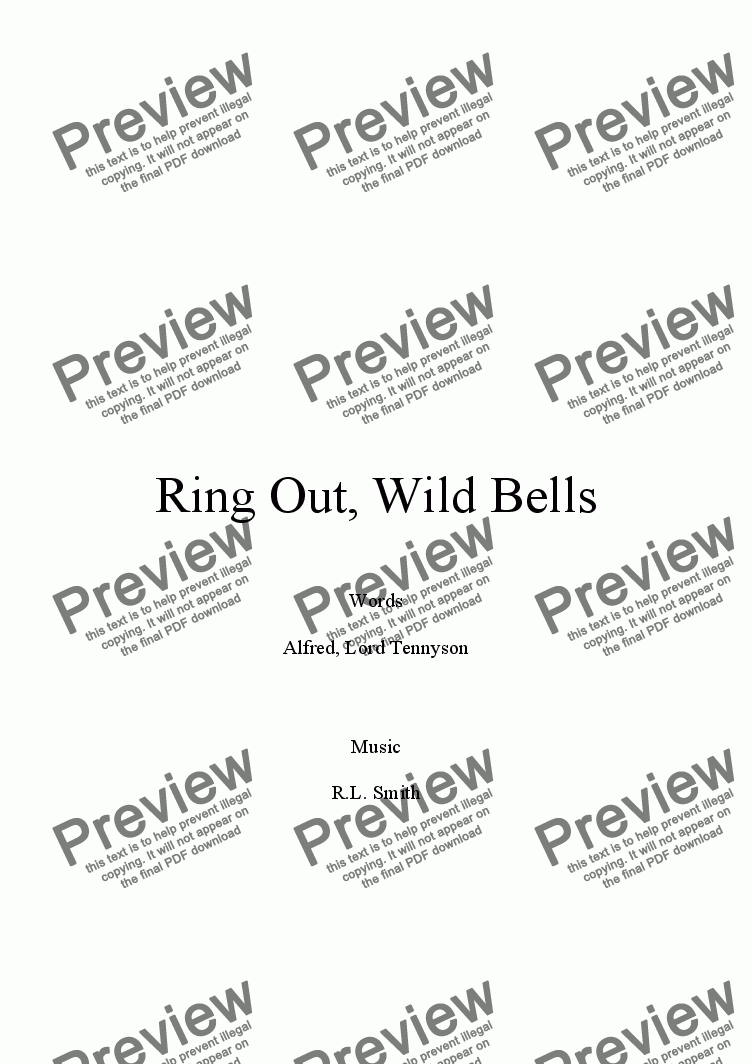 page one of Ring Out, Wild Bells