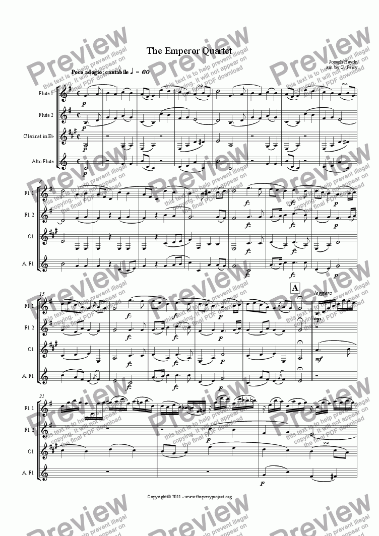 page one of The Emperor Quartet