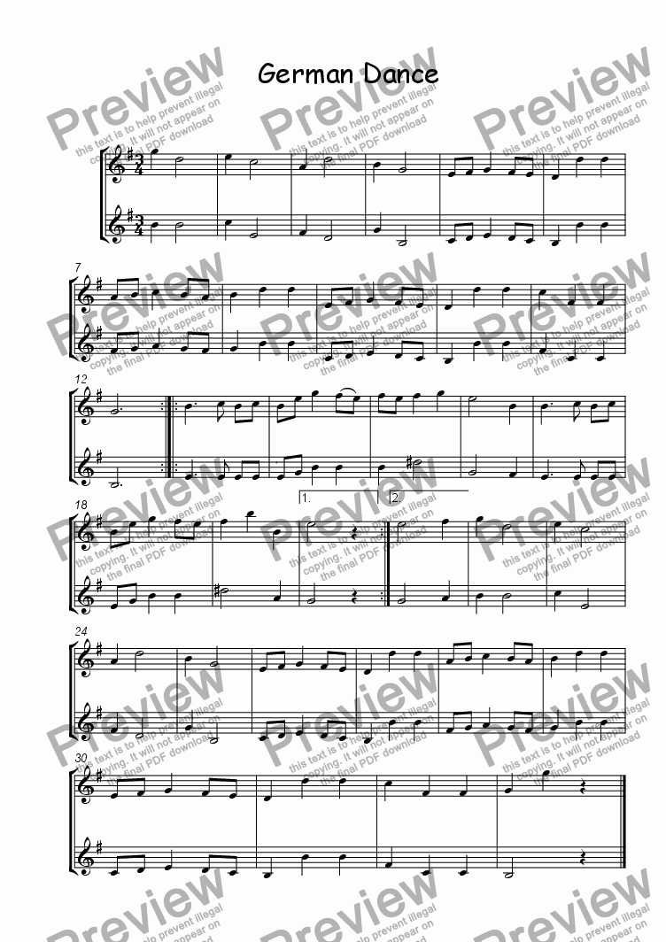 page one of German Dance