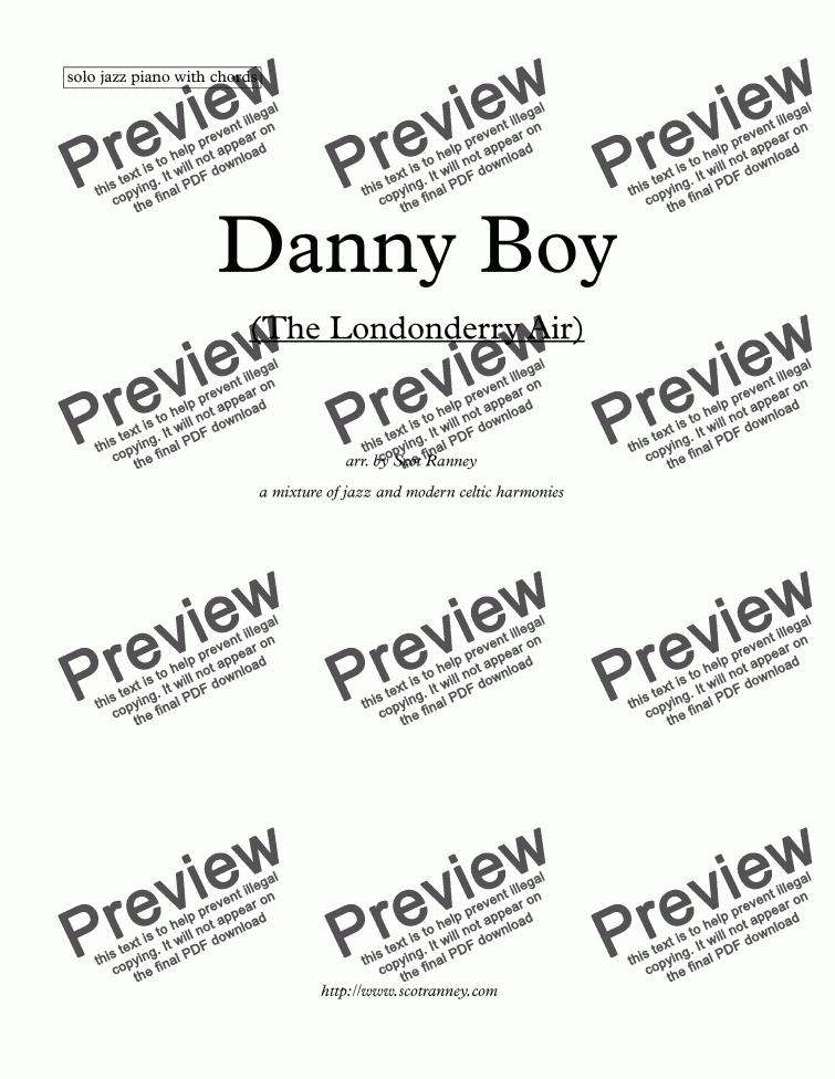 Danny Boy Londonderry Air Solo Piano Download Sheet Music Pdf