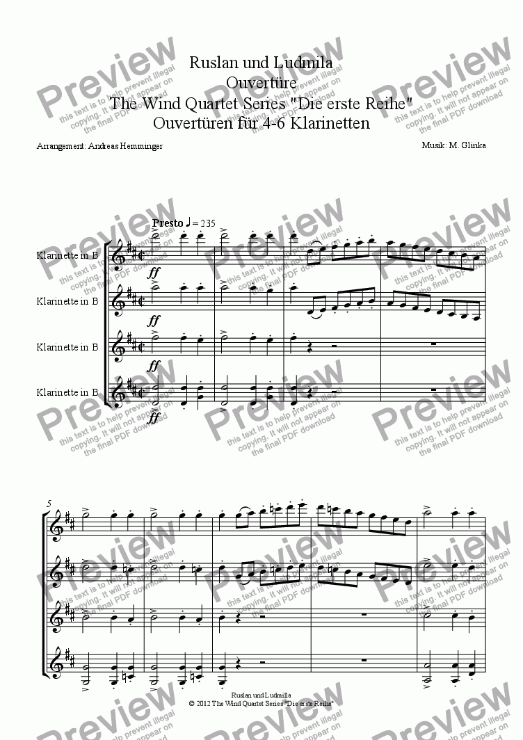 page one of Overture, Ruslan and Ludmilla