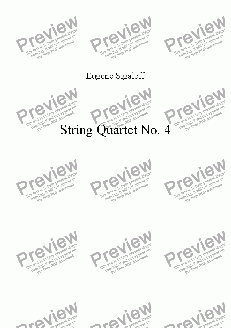 page one of String Quartet No. 4