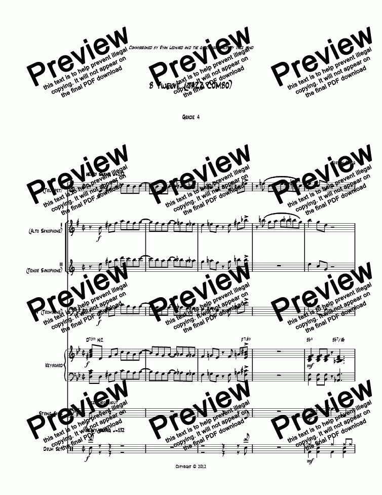 page one of B Twelve (JAZZ COMBO)ASALTTEXT